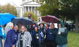At the Illinois State Capitol in Springfield, rallying for Marriage Equality, October 2013