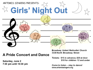 Girls Night Out - 2012. Art by Sue Dunmore.