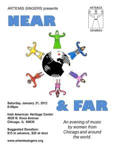 Near and Far Concert - 2012. Art by Sue Dunmore.